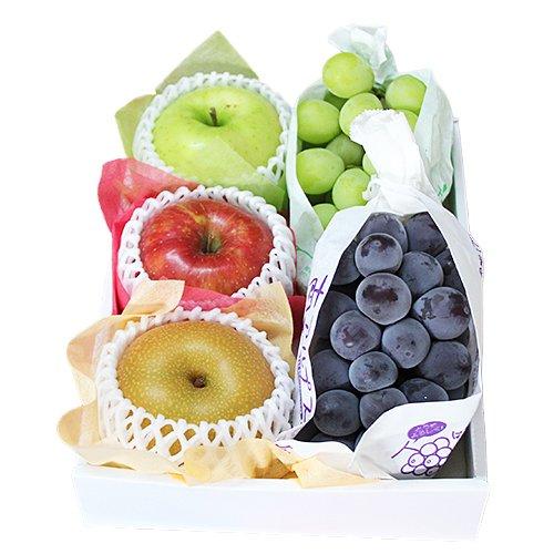 【 贈答用 】 秋のフルーツセット 種無し葡萄 林檎 梨 (小セット)