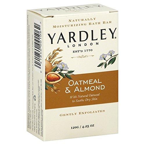 Yardley Naturally Moisturizing Bath Bar 4.25 oz ea, Oatmeal & Almond, by Yardley