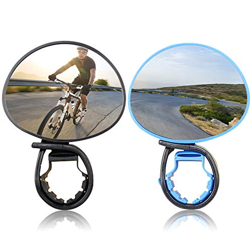 No/Brand Yisika Bike Mirrors,2 Pairs Cycling Riding Bicycle Bike Rear View Mirror,Adjustable Rotatable Handlebar Mounted Plastic Mirror for Mountain Road Bike Cycling Scooter