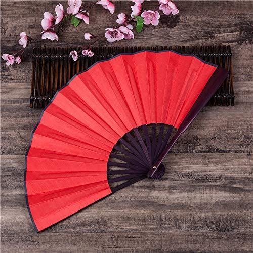 GHDR Abanico Plegable,Ventiladores De Mano Rojos Grandes Plegables Chinos Japoneses Fiesta De Baile Regalos De Boda Decoración De Bricolaje Decoraciones para El Hogar Fresco Montado En La Pared
