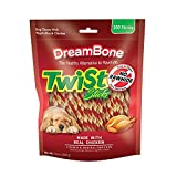 DreamBone Twist Sticks Rawhide Free Dog Chews, Made with Real Chicken, 100 Pack