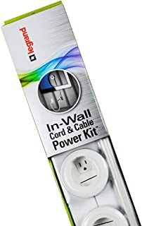 Legrand - Wiremold CMK70 Flat Screen TV Cord and Cable Power Kit, Recessed In-Wall Cable Management System with PowerConnect, White.
