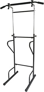 X-Factor Pull Up Station Jr Power Tower 300 lbs Dip Chin Up Adjustable 92 Inch Height with Strips for Home Pro Gym