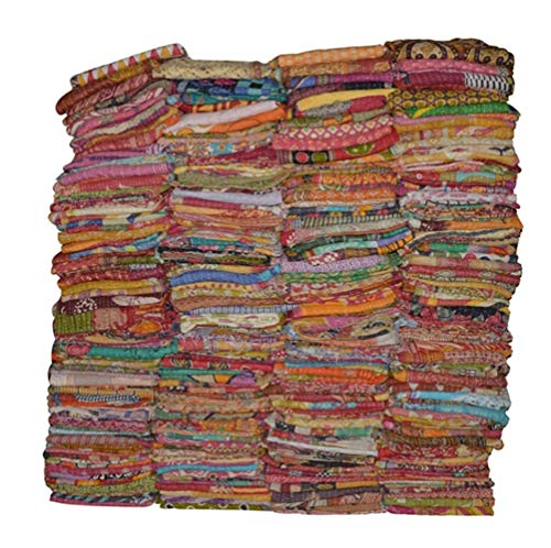 Vintage Handmade Kantha Quilts Tribal Kantha Cotton Bed Cover Throw Assorted Patches Made Rally Reversible Bedspread Throw Old Sari Assorted Patches Indian Blanket