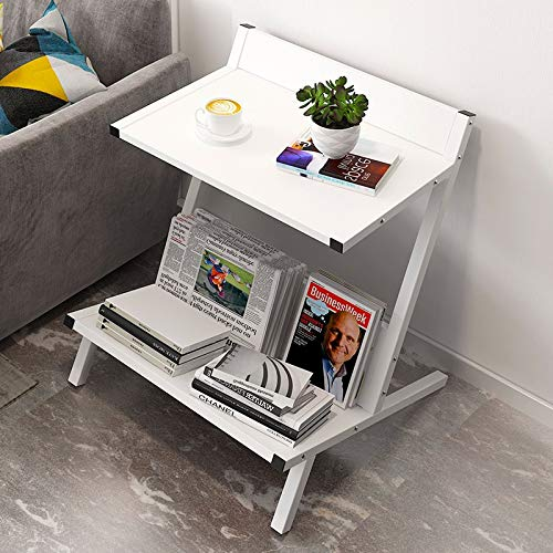 INTER FAST Tavolino Tavolino Ins Comodino Semplice Moderno Creativo Angolo Divano Bordo Mensola Rivista (Colore: HH535300WH)