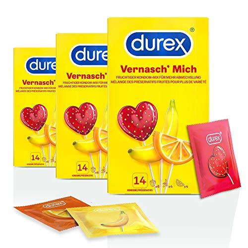 Durex Vernasch Mich Kondome, 3 x 14 Stück (42 Kondome)