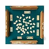 MyShop24h Rummikub Okey, juego de mesa de madera auténtica, fichas de melamina AHSAP Okey Taimi