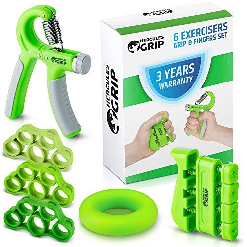 Hand Grip Strengthener Forearm Grip Workout Kit - 6 Pack - Adjustable...