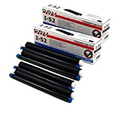 4x OBV Inkfilm ersetzt Panasonic KX-FA52X kompatibel, je 105 Seiten, für Panasonic Faxgeräte KX-FC 255/226 / 255/265 / 266/275 / KX-FP 205/215