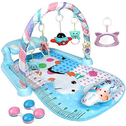 Lictin Palestrina Neonato Multifunzione - Deluxe Gymini Palestrina children - Soffice Tappetino e Giochi per Neonati per 3-9 mesi