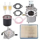 Tvent FE290 Carburetor + Fuel Pump Replacement for Golf Cart Club Car DS Precedent Turf Carryall Carb 1018056-01 101805601 1019056-01 101905601 1016438 1016439 1016440 1016441 1016478 17561 1998-UP