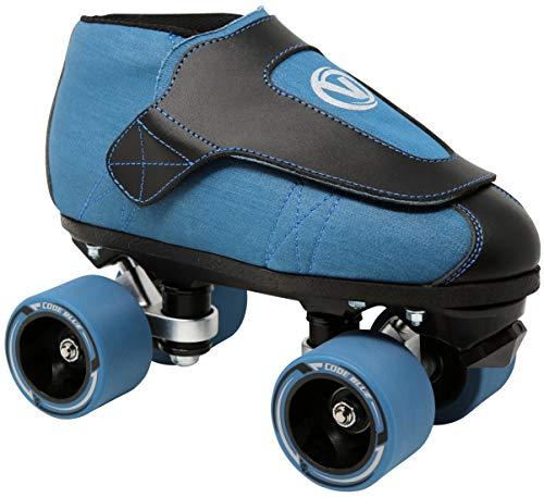 VNLA Code Blue Jam Skate - Mens & Womens Speed Skates - Quad Skates for Women & Men - Adjustable Roller Skate/Rollerskates - Outdoor & Indoor Adult Quad Skate - Kid/Kids Roller Skates (Size 8)