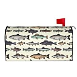antcreptson Fish Magnetic Mailbox Cover 21x18 inch