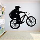 WSYYW Vélo Moto Enfant Garçon Adolescent Chambre Décoration Bricolage Sticker Vélo Sport Autocollant En Vinyle Chambre Sport Mur Peinture Mur Autocollant Famille Jardin Tomate Rouge 08 66x57cm