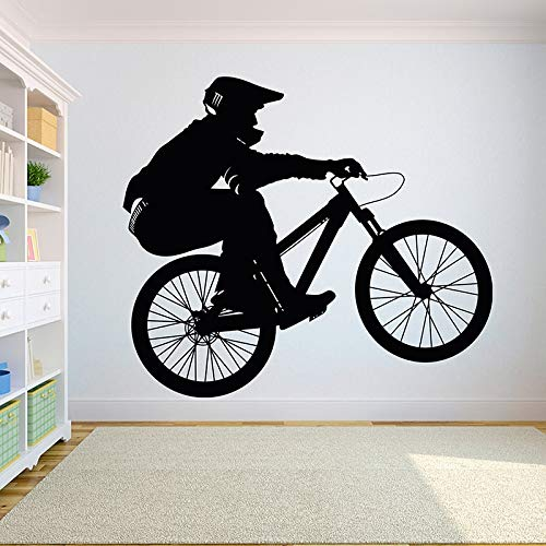 ganlanshu Motocicleta Bicicleta Niño Niño Niño Adolescente Dormitorio Calcomanía Decorativa de Pared Vinilo Pegatina de Pared Sala de Ejercicios Bicicleta estática 48cmx42cm