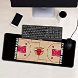 ZDVHM Estesa Gaming Mouse Pad Chicago Bulls Grande Tastiera Tappetino Mouse Impermeabile Antiscivolo Gioco Mousepad for Office Home PC Desktop Tabella Mouse Pad (Size : 600 * 300 * 3mm)