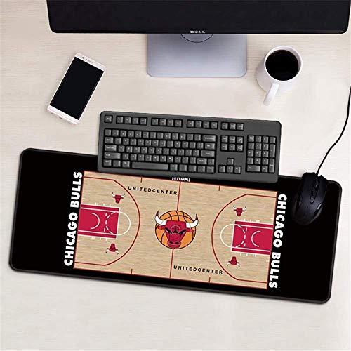 ZDVHM Estesa Gaming Mouse Pad Chicago Bulls Grande Tastiera Tappetino Mouse Impermeabile Antiscivolo Gioco Mousepad for Office Home PC Desktop Tabella Mouse Pad (Size : 600 * 300 * 3mm)
