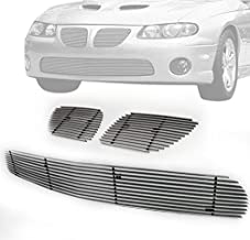 ZMAUTOPARTS For Pontiac GTo Front Upper + Bumper Lower Billet Grille Grill Insert Combo