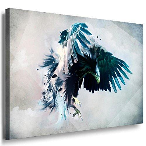 Adler Abstrakt Leinwandbild / LaraArt Bilder / Mehrfarbig + Kunstdruck ab56 Wandbild 40 x 30 cm