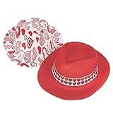 Fun Express Valentine Fedora Hats - Apparel Accessories - 12 Pieces