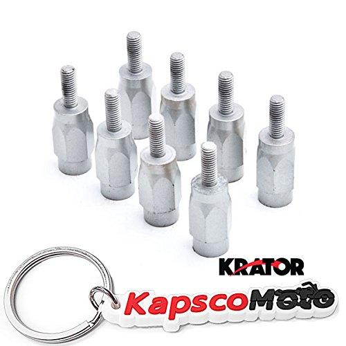 Krator Wheel Stud Spacer Bolts M8x1.25 For Kawasaki KFX 50 Suzuki LT50 Yamaha Raptor 50/80 3' Wheel Stud Spacer Bolts 8mm x 1.25 2xWheels + KapscoMoto Keychain