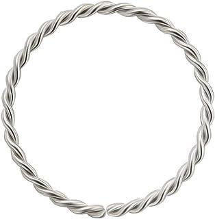 9k oro 22 Gauge - 8mm diametro continuo Twister Hoop naso naso Piercing dell'anello