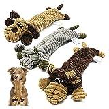 GLLP Hundespielzeug, 3 Pack Set Durable Kein Stopfplatz Dog Spielzeug, interaktive Hundespielzeug für Training, kuscheliges weiches Kaubündel als Hund Kauen Spielzeug, ungiftig Hundespielzeug für Welp