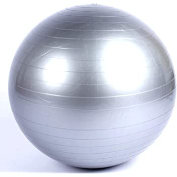 FITFIU Fitness FITBALL-PAT - Fitball 65cm Lila ejercicio Fitness ...