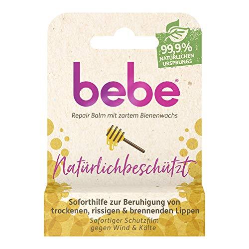 bebe Natürlichbeschützt Bienenwachs Repair Balm, Lippenpflege Stift, 4,9 g