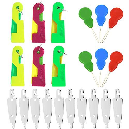 Sweieoni Enhebrador Agujas 120 Piezas Enhebradores de Agujas de Plástico Forma Calabaza Enhebrador Agujas Enhebrador de Agujas Maquinas de Coser para Coser a Mano y Máquina de Coser (Color Aleatorio)