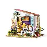Juguete de madera construcción de modelos Mini 3D DIY Edificio Dollhouse modelo Mini kit de casa sala de arte con la idea de muebles regalo de cumpleaños creativo de habitaciones casa de juguete en mi