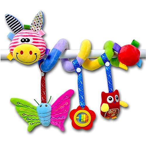 ORZIZRO Car Seat Mobile Toys, Activity Deer Plush Toy for Infants Baby Stroller Bar Crib Bassinet Mobile