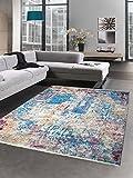 CARPETIA Alfombra de salón de diseño y Alfombra Moderna en Multi patrón Vintage Größe 80x150 cm