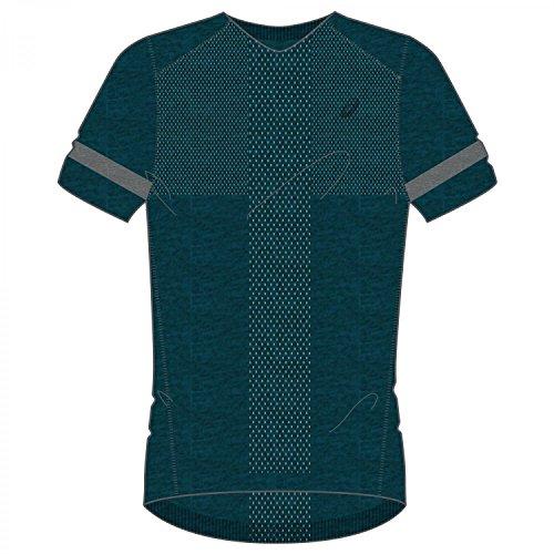 ASICS oberbekleidung Manches Courtes pour Femme sans Couture, Homme, Oberbekleidung Short Sleeve Top Seamless, Bleu