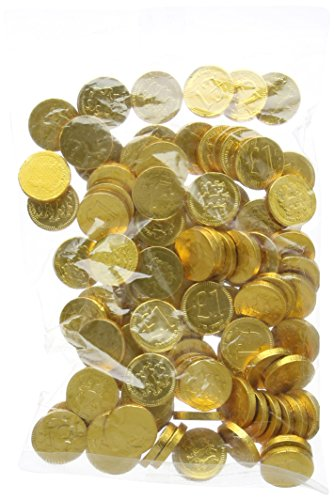 Milk Chocolate 22mm Gold £1 Coins (Pack of 100)