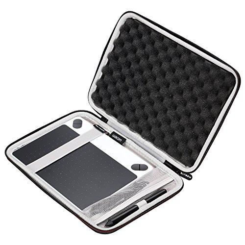LTGEM - Valigetta Rigida da Viaggio in Eva per tavoletta Grafica Wacom Intuos Draw Graphics Pen Tablet, Misura Piccola con Tasca a Rete