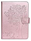 Accesorios de pestañas para Amazon Kindle Paperwhite 4 2018 10ª generación, Cubierta de Estampado de árbol de Gato para Paperwhite 1 2 3 4, Caso + Película + Pen 6 Pulgadas (Color : Rgold)