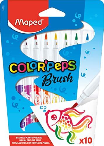 Caneta Hidrográfica, Maped, Color Peps Brush, 848010, 10 Cores