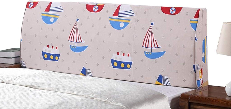 Majing Appui-tête De Lit - Housse De Prougeection Amovible for Tête De Lit en Tissu avec Dossier grand (11 Couleurs) 180 × 50 × 15cm (Couleur   B, Taille   200×50×15cm)