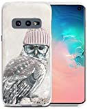 S10E Case Owl - Case for S10E - CCLOT Cover Compatible for Samsung Galaxy S10E Lovely Owl in Hat Animal (TPU Protective Silicone Bumper Skin)