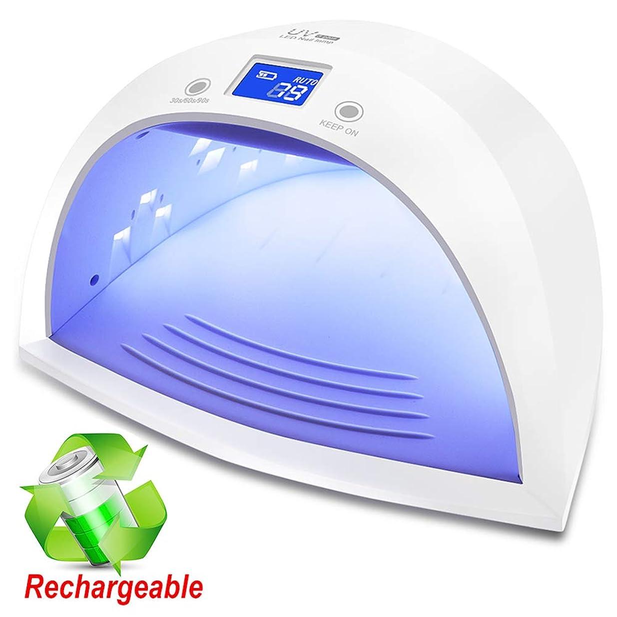 ファランクス話パッド60W プロフェッショナル UV LED ジェルネイルライトポリッシュ硬化乾燥機インテリジェント自動センサー3タイマー設定 30/60/90 ホワイト