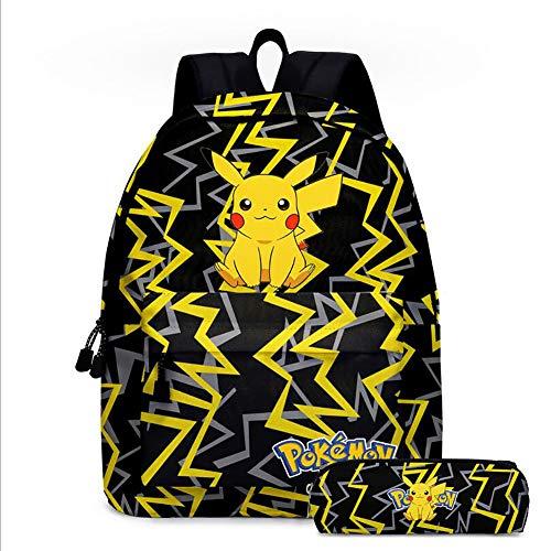 YLG Pikachu Casual Backpack School Bag Children's Backpack Pokemon Anime Daypack Laptop School Bag
