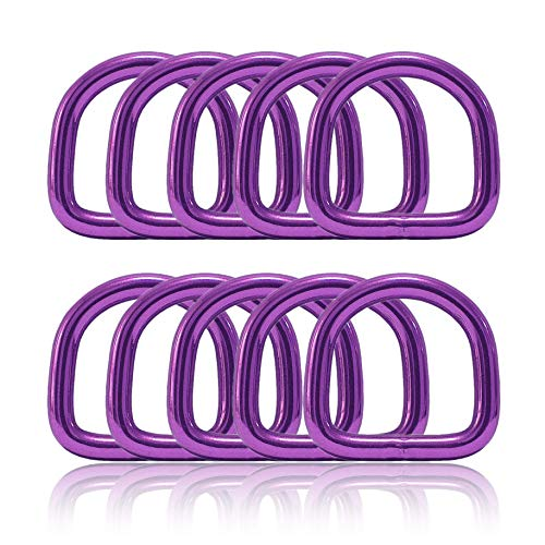 Ganzoo D – Anello in acciaio, set da 10 pezzi, spessore del materiale 4 mm, collare per cani fai da te, antiruggine, ideale con Paracord 550, colore viola