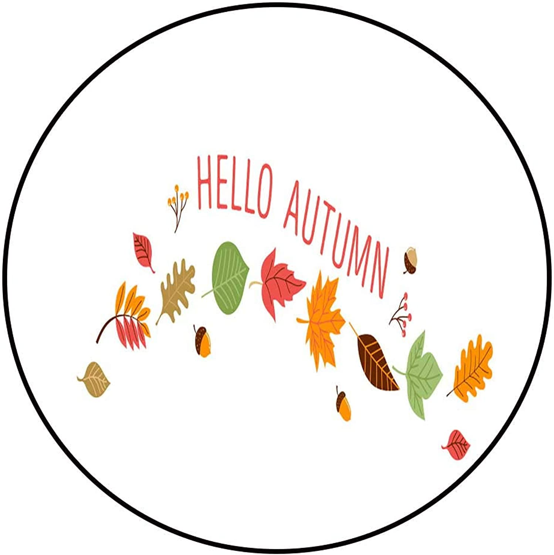 Hua Wu Chou Round Chair matround Welcome mat D4' 1.2m Fall Autumn Season Illustration background3