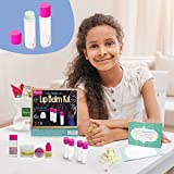 Kiss Naturals Lip Balm Kit - DIY for Kids Crafts Kit - 100% Natural and Organic Lip Balm Making Kit for Kids - STEM Creative Kit for Girls and Boys
