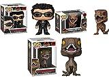 Funko POP! Jurassic Park: Dr Ian Malcolm + Tyrannosaurus Rex + Velociraptor NEW...