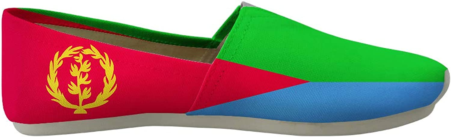 Owaheson Classic Canvas Slip-On Lightweight Driving shoes Soft Penny Loafers Men Women Eritrea Flag