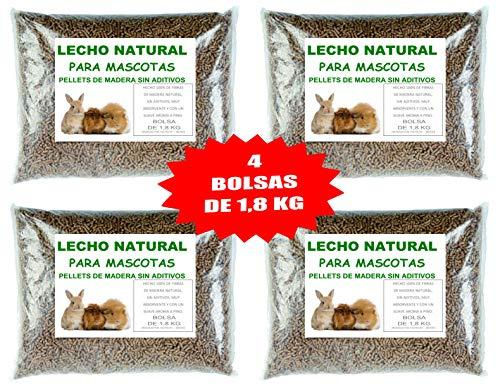 S.COOP.AND. PELLETS para LECHO DE Conejo COBAYA Hamster (4 Bolsas DE 1,8 KG)