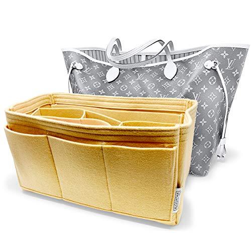 AlgorithmBags Louis Vuitton Neverfull MM LV Purse Organizer Insert HandBag Shaper Liner Divider Pocketbook (Rose Ballerine)