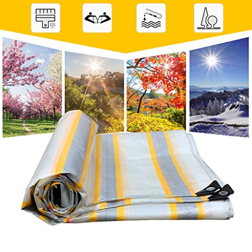 Universal Tarp cover Heavy Duty Waterproof Tarpaulin - High Density Tarp - 100% Waterproof and UV Protected - 0.46MM Thick,180g/m²